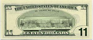 The 11 dollar bill