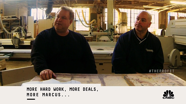 Dean and Keith brace themselves for Marcus's offer.