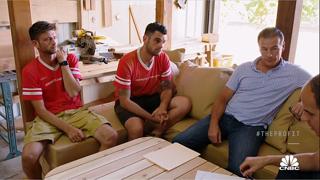 L to R: Steven, Damion, and Kab meet with Marcus.